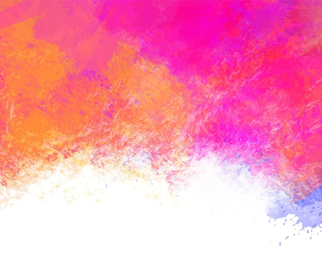 Hand painted abstract colorful watercolor stain background digital painting