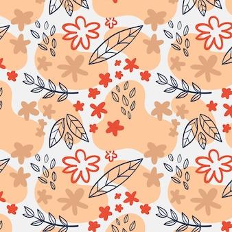 Ручная роспись абстрактный цветочный узор