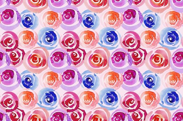 手描きの抽象的な花柄