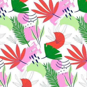 手描きの抽象的な葉のパターン