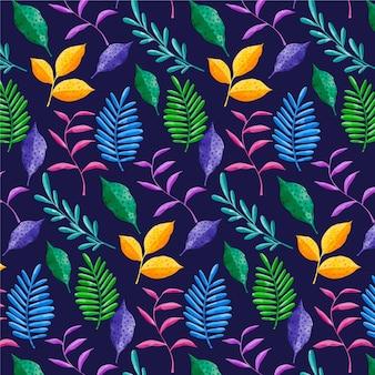 Ручная роспись абстрактный узор с листьями