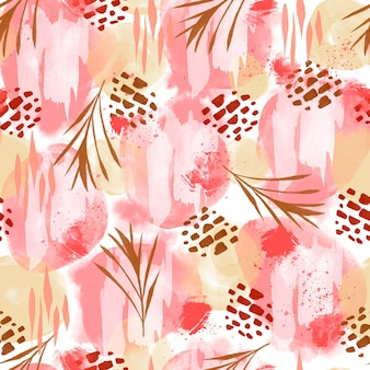 Hand painted abstract painting pattern design