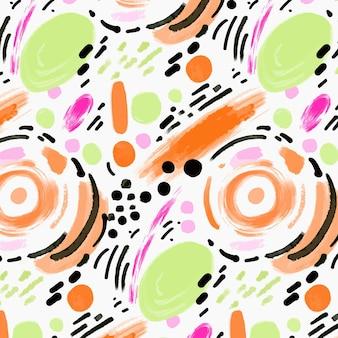 손으로 그린 추상 회화 패턴 디자인