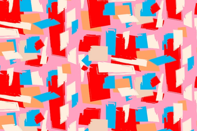 Hand painted abstract painting pattern