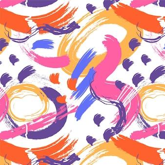 손으로 그린 추상 회화 패턴 무료 벡터
