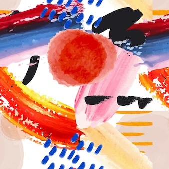 Modello di pittura astratta dipinta a mano