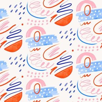손으로 그린 추상 회화 패턴