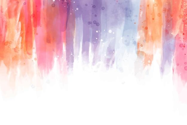 Ручная роспись абстрактных обоев акварелью