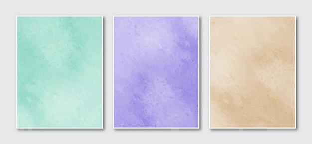 手描きの抽象的な水彩画のカバーデザイン