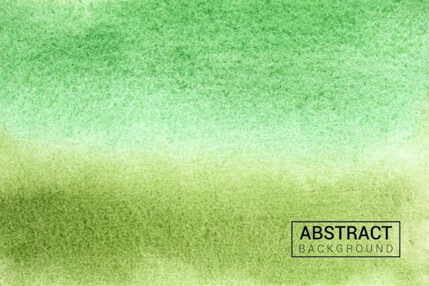 手描きの抽象的な水彩緑のテクスチャ背景