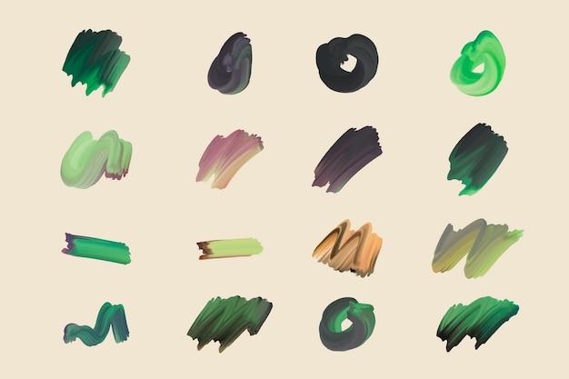 手描きのアクリルブラシストロークコレクション
