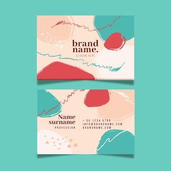 Hand painted in asymmetrical spots business card