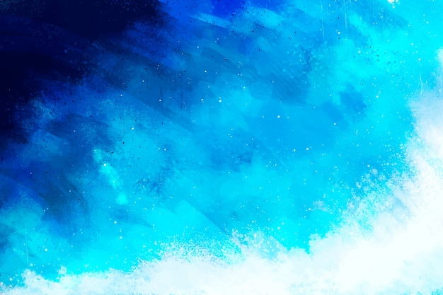 Hand painted background in gradient blue