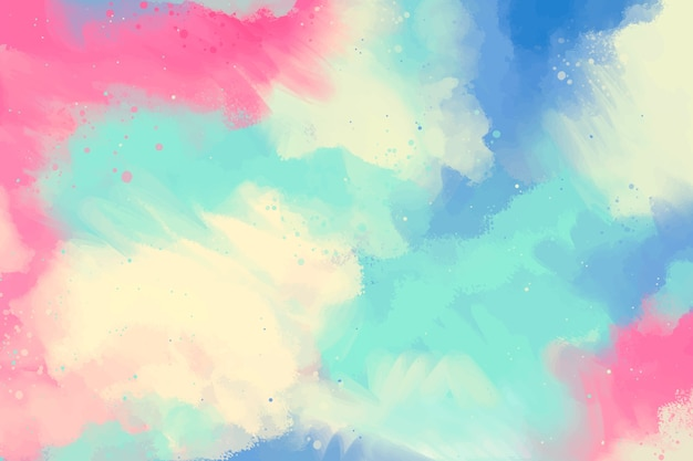 Hand painted background in gradient with copy space