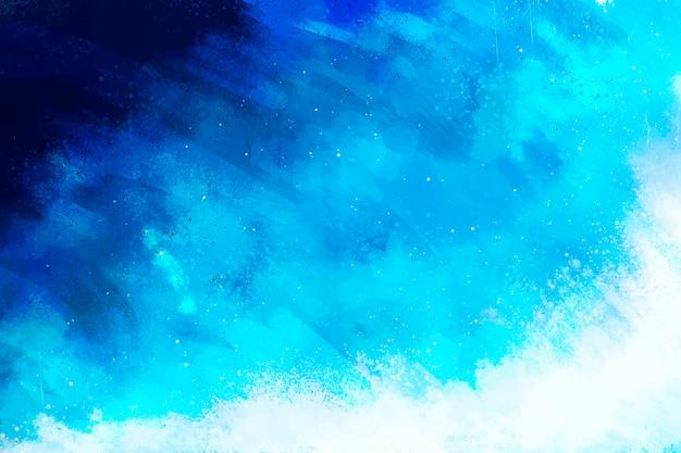 손으로 그린 그라디언트 블루 배경