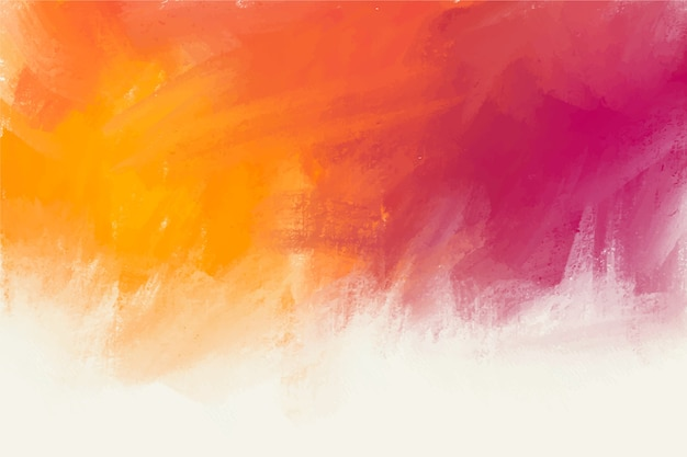 Hand painted background in violet and orange colours