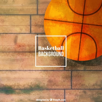 Basket sfondo dipinta a mano