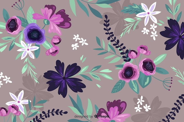 Hand painted beautiful floral background