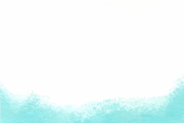 手描きの青い水彩背景