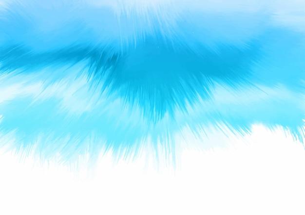 手描きの青い水彩デザインの背景