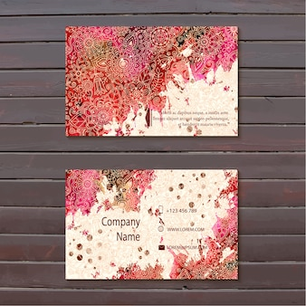Hand painted business card design