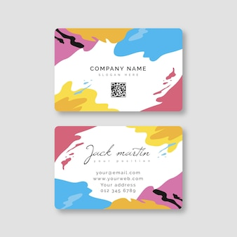 Hand painted business card style