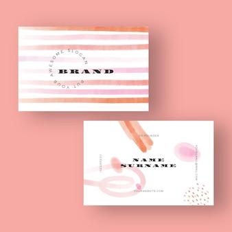Ручная роспись шаблон визитной карточки