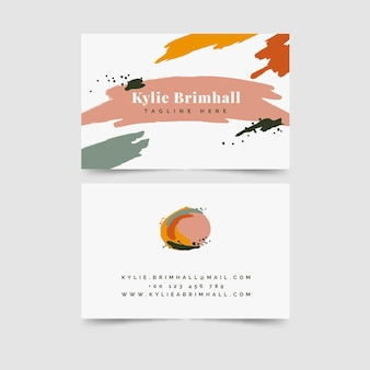Hand-painted business card theme