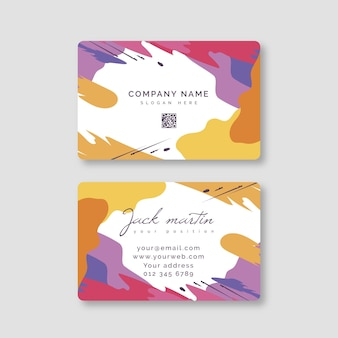 Hand painted business card theme