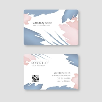 Hand painted business card