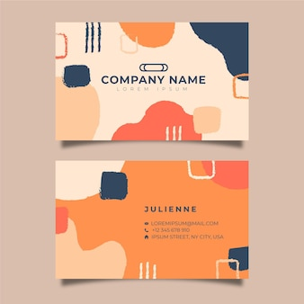 Hand painted business cards concept
