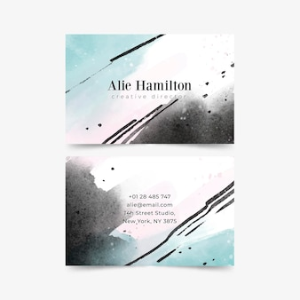 Hand painted business cards template