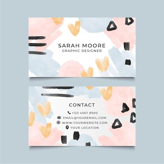 Hand painted business cards