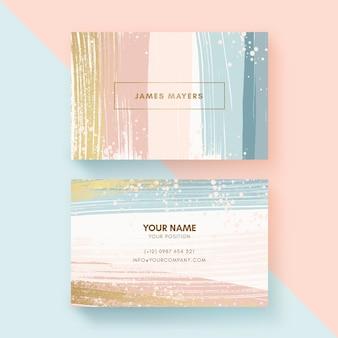 Раскрашенные вручную визитки