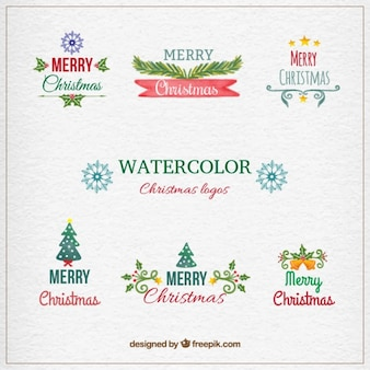 Hand painted christmas logos