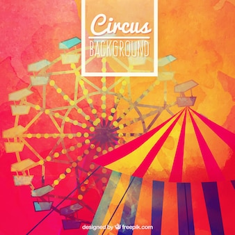 Hand painted colorful circus background
