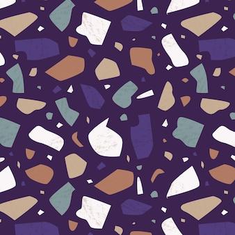手描きのカラフルなテラゾパターンデザイン