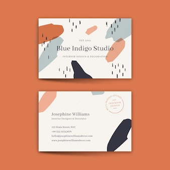 Hand painted company card template