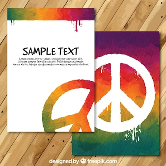 Dipinto a mano il giorno della carta di pace
