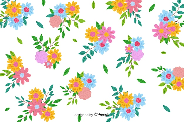 Hand painted decorative floral background