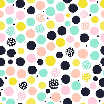 Hand painted dot pattern