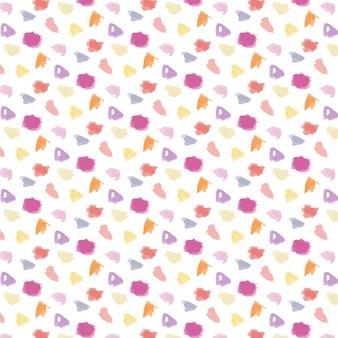 水彩で手描きのドッティパターン