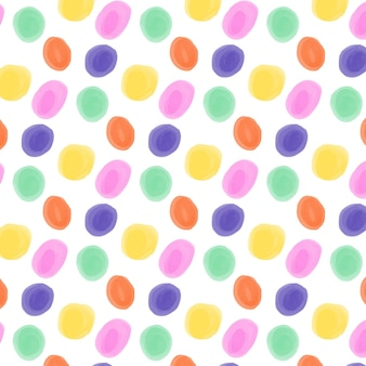 Hand painted dotty pattern