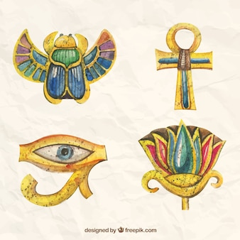 Hand painted egyptian ornaments