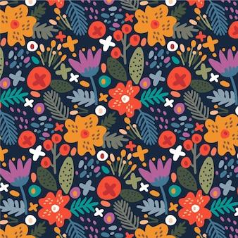Ручная роспись экзотическим цветочным узором