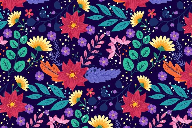 手绘奇异的花卉图案