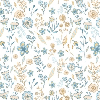Hand painted floral pattern
