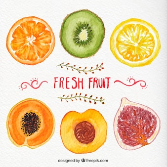 Hand painted fresh fruits