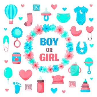 Hand painted gender reveal party concept