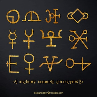 手は黄金の記号と記号を描きました